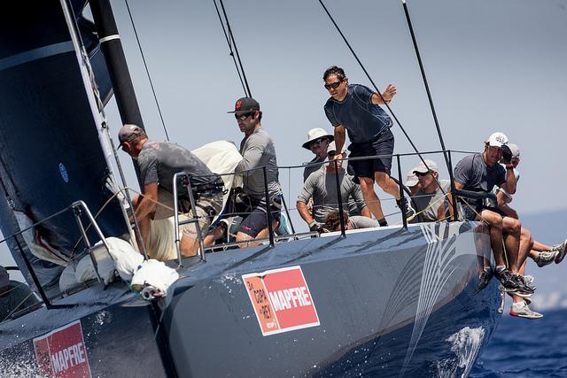 """El """"Ran V"""", único barco que ya es matemáticamente ganador de su clase © María Muiña/34 Copa del Rey MAPFRE."""