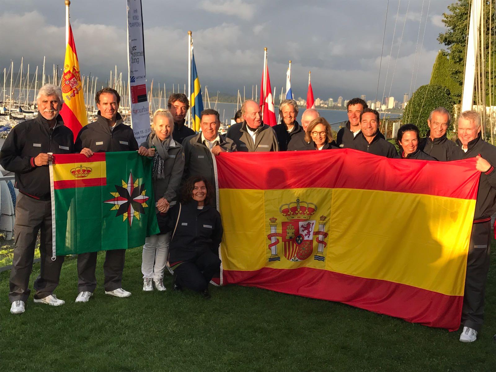 """S.M. el Rey Juan Carlos, campeón del mundo de 6M en Canadá con el """"Bribon Movistar"""""""