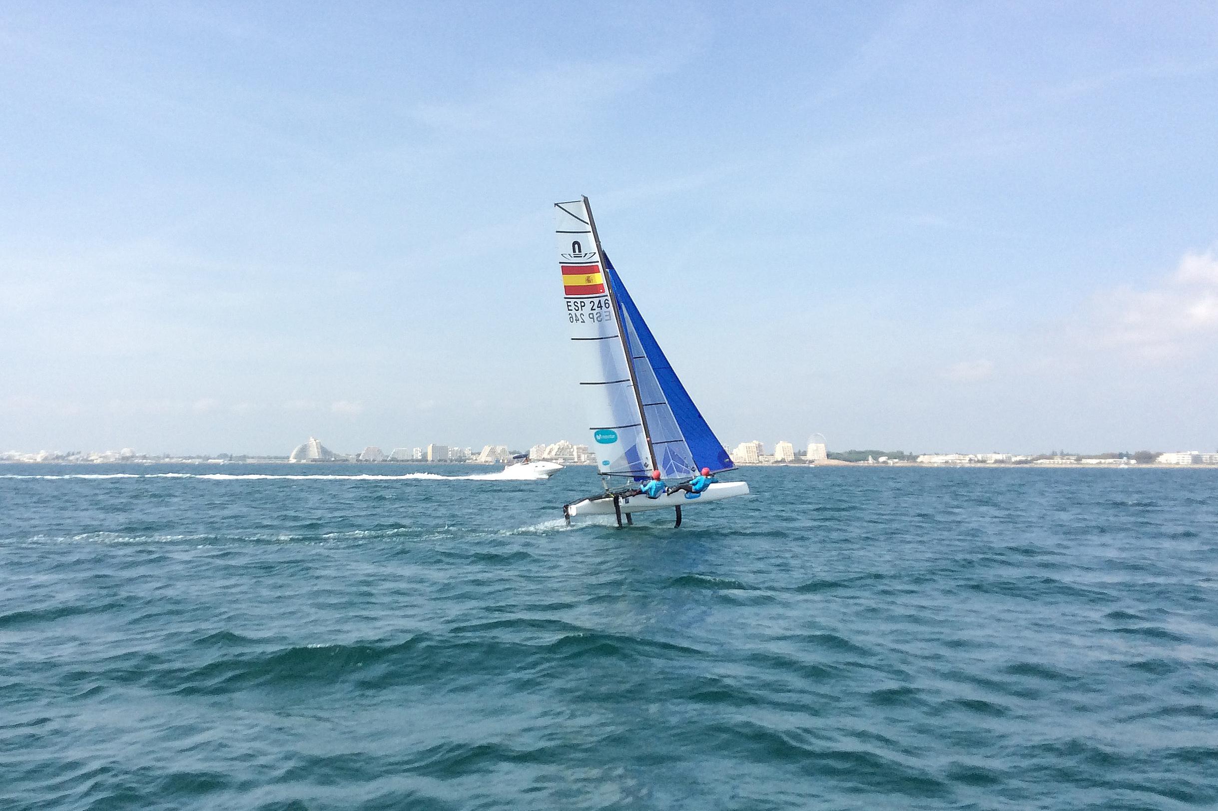 Iker Martínez y Olga Maslivets, en Francia para el primer Mundial del nuevo catamarán olímpico