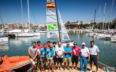 Iker dona dos de sus barcos olímpicos Nacra a la Federación Balear de Vela