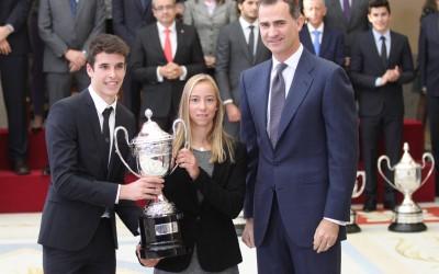 Aina Colom recibe el Premio Princesa Leonor