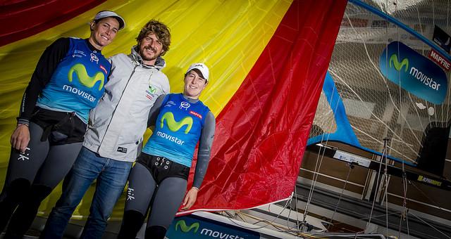 Berta, Támara y su entrenador Pepe Lis