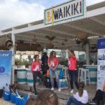 La Fundación Ecomar y Movistar vuelven a limpiar la playa de Los Lances