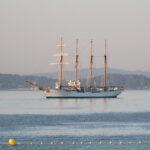 El Juan Sebastián Elcano ya está en Sanxenxo