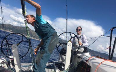 Iker Martínez y Natalia Vía-Dufresne, listos en Génova para el Europeo Mixto Offshore
